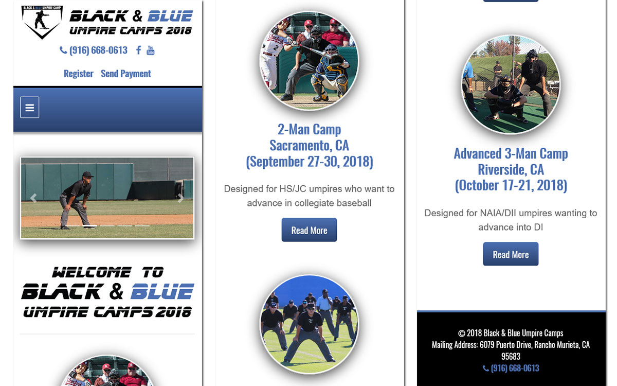 Black & Blue Umpire Camps Slide 3