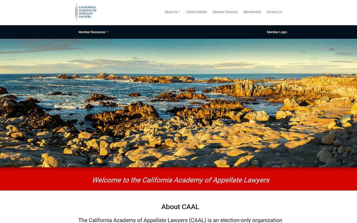 California Academy of Appellate Lawyers Slide 1