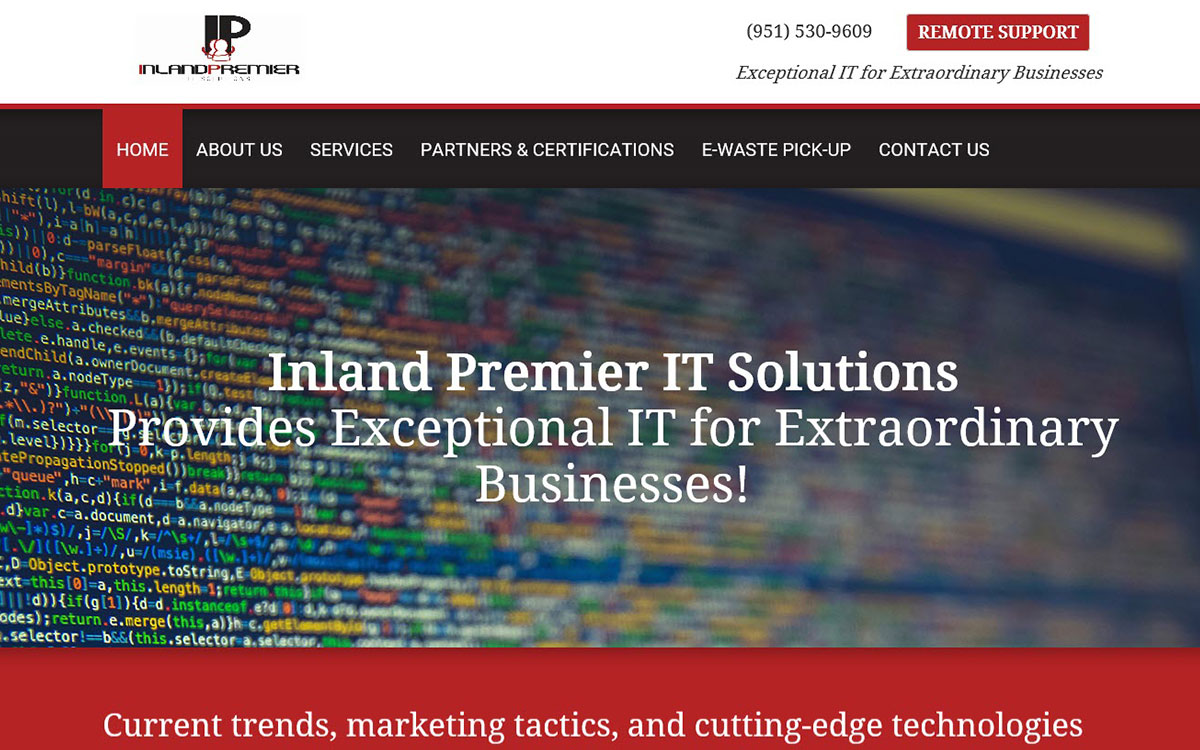 Inland Premier IT Solutions Slide 1